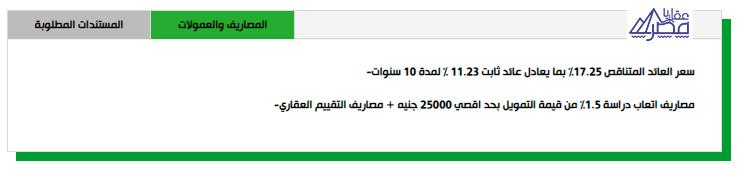 شروط الحصول علي التمويل العقاري من عقار يا مصر